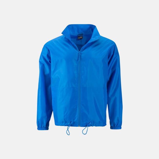 Bright Blue (herr) Billiga vindjackor i herr- & dammodell med reklamtryck