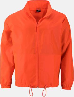 Bright Orange (herr) Billiga vindjackor i herr- & dammodell med reklamtryck
