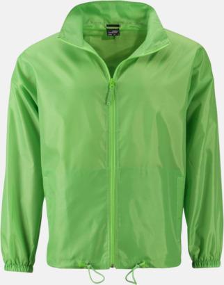 Spring Green (herr) Billiga vindjackor i herr- & dammodell med reklamtryck