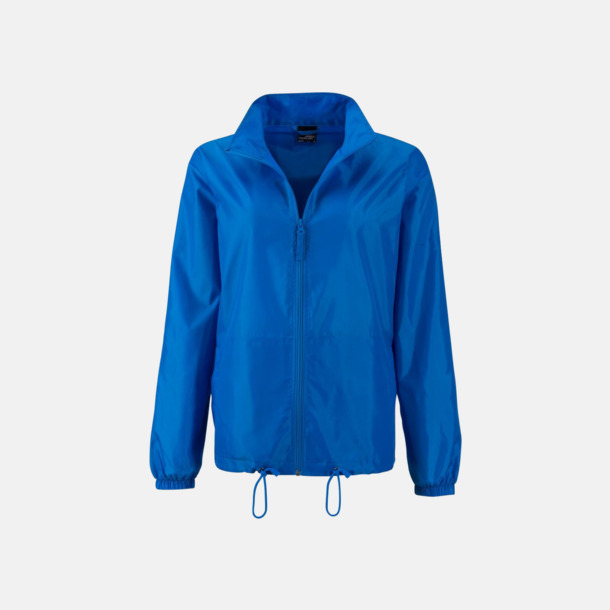 Bright Blue (dam) Billiga vindjackor i herr- & dammodell med reklamtryck