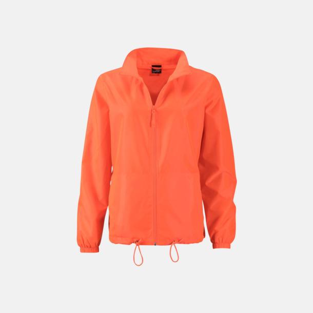 Bright Orange (dam) Billiga vindjackor i herr- & dammodell med reklamtryck