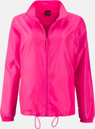 Bright Pink (dam) Billiga vindjackor i herr- & dammodell med reklamtryck