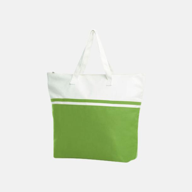 Ljusgrön Stiliga bomullskassar med reklamtryck