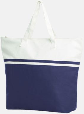 Marinblå Stiliga bomullskassar med reklamtryck