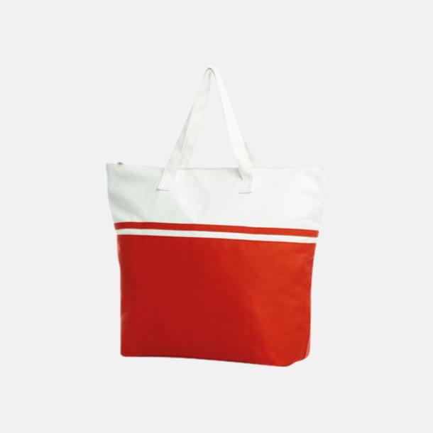 Röd Stiliga bomullskassar med reklamtryck