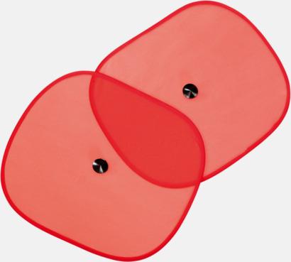 Röd Bilskydd mot solljus - med reklamtryck
