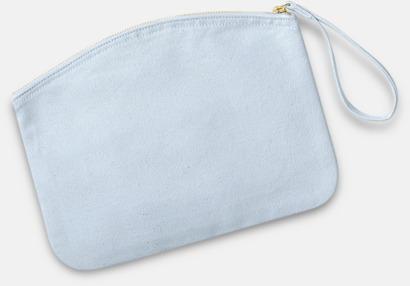 Pastel Blue Eko plånbok eller necessär i 2 storlekar med reklamtryck