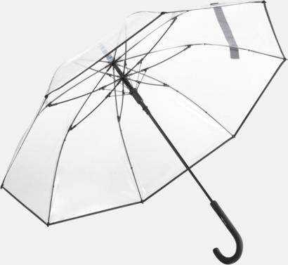 Svart Genomsynliga paraplyer med färgkontraster med reklamtryck