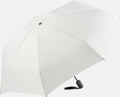 Vit Automatisk öppning & stängnings paraplyer med reklamtryck