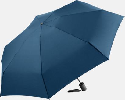 Marinblå Automatisk öppning & stängnings paraplyer med reklamtryck
