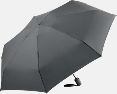 Grå Automatisk öppning & stängnings paraplyer med reklamtryck