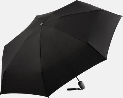 Svart Automatisk öppning & stängnings paraplyer med reklamtryck