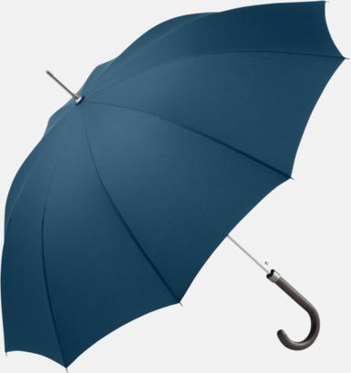 Marinblå Eleganta FARE-paraplyer med reklamtryck