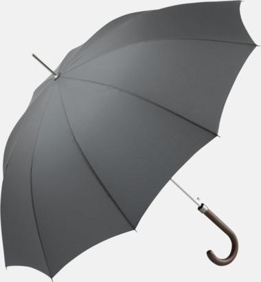 Grå Eleganta FARE-paraplyer med reklamtryck