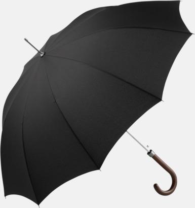 Svart Eleganta FARE-paraplyer med reklamtryck
