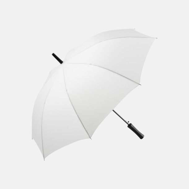 Vit FARE-paraplyer med reklamtryck