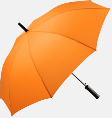 Orange FARE-paraplyer med reklamtryck
