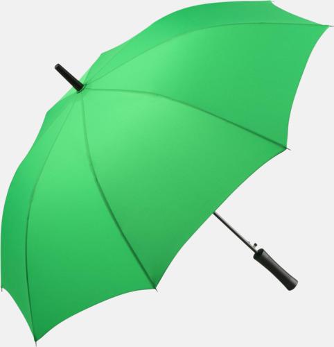 Ljusgrön FARE-paraplyer med reklamtryck