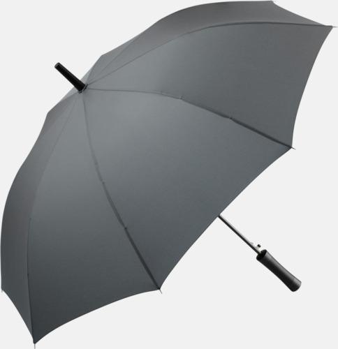 Grå FARE-paraplyer med reklamtryck