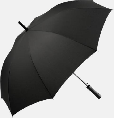 Svart FARE-paraplyer med reklamtryck