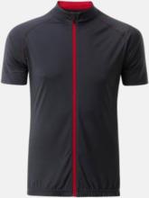 Tvåfärgade cykeltröjor med hel dragkedja med reklamtryck