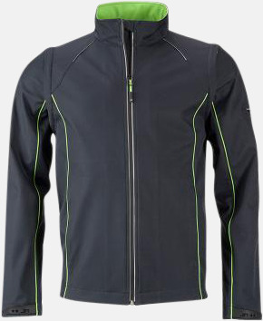 Iron Grey/Grön (herr) Jackor med avtagbara ärmar - med reklamtryck