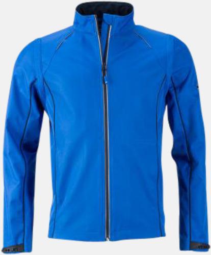 Nautic Blue/Marinblå (herr) Jackor med avtagbara ärmar - med reklamtryck