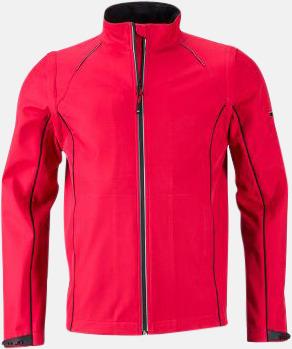 Röd/Svart (herr) Jackor med avtagbara ärmar - med reklamtryck