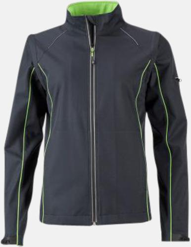 Iron Grey/Grön (dam) Jackor med avtagbara ärmar - med reklamtryck