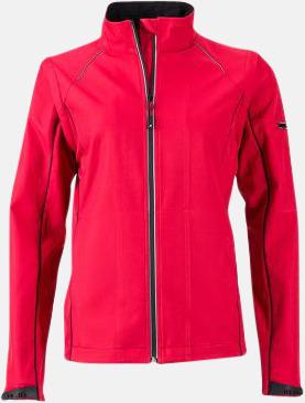 Röd/Svart (dam) Jackor med avtagbara ärmar - med reklamtryck