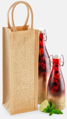 Skimrande vinpåsar med reklamtryck