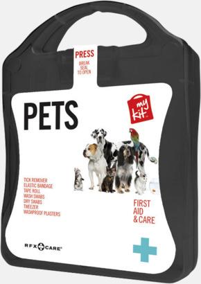 Svart Första hjälpen kit for husdjursägare - med reklamtryck