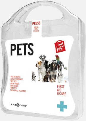 Vit Första hjälpen kit for husdjursägare - med reklamtryck