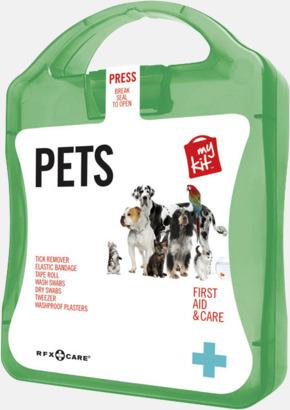 Grön Första hjälpen kit for husdjursägare - med reklamtryck