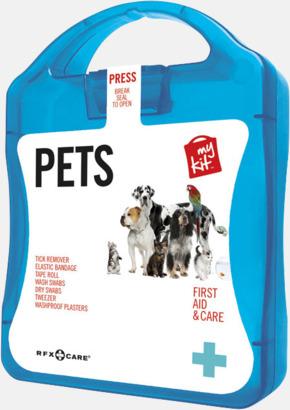 Blå Första hjälpen kit for husdjursägare - med reklamtryck