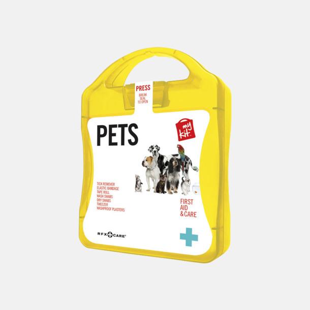 Gul Första hjälpen kit for husdjursägare - med reklamtryck