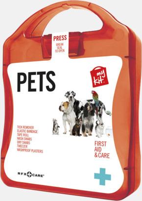 Röd Första hjälpen kit for husdjursägare - med reklamtryck
