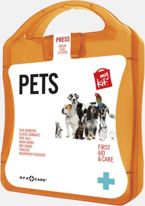 Orange Första hjälpen kit for husdjursägare - med reklamtryck