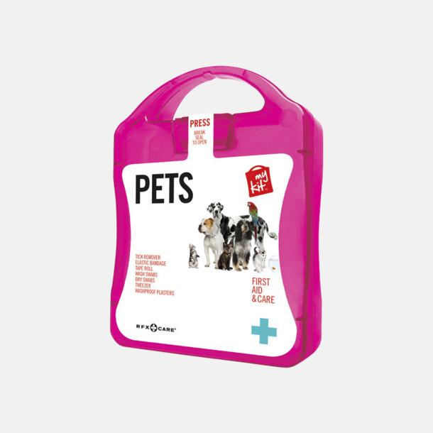 Magenta Första hjälpen kit for husdjursägare - med reklamtryck
