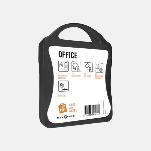 Första hjälpen kit på kontoret - med reklamtryck
