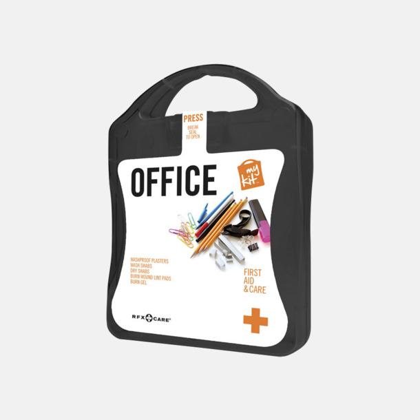 Svart Första hjälpen kit på kontoret - med reklamtryck