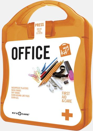 Orange Första hjälpen kit på kontoret - med reklamtryck
