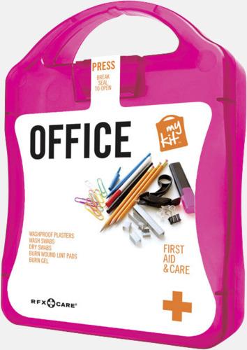 Magenta Första hjälpen kit på kontoret - med reklamtryck