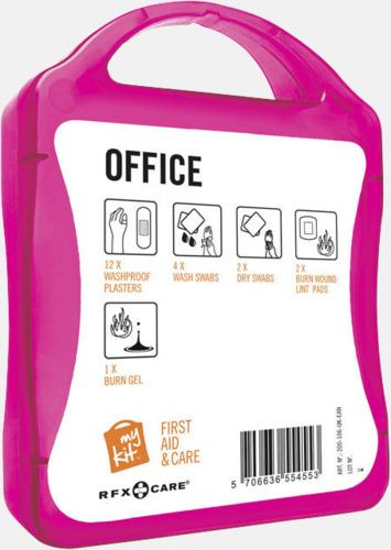 Baksida Första hjälpen kit på kontoret - med reklamtryck