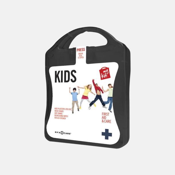 Svart Första hjälpen kit för barn - med reklamtryck