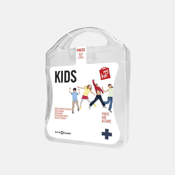 Vit Första hjälpen kit för barn - med reklamtryck