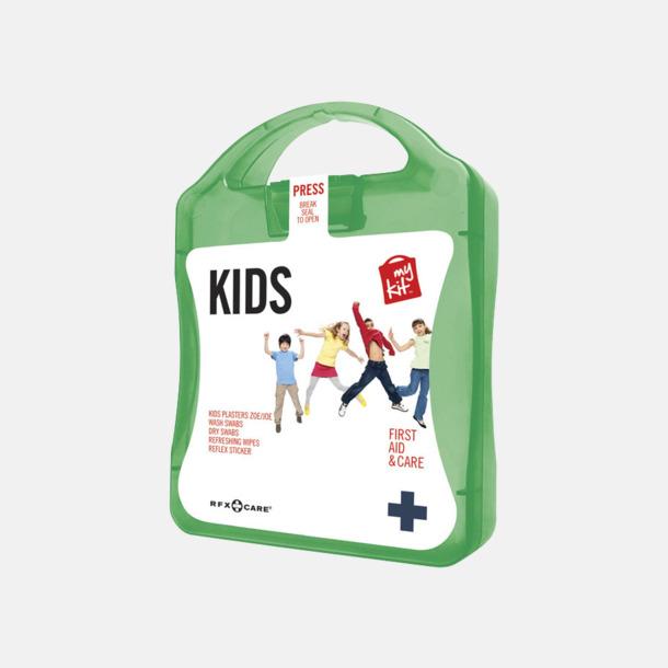 Grön Första hjälpen kit för barn - med reklamtryck