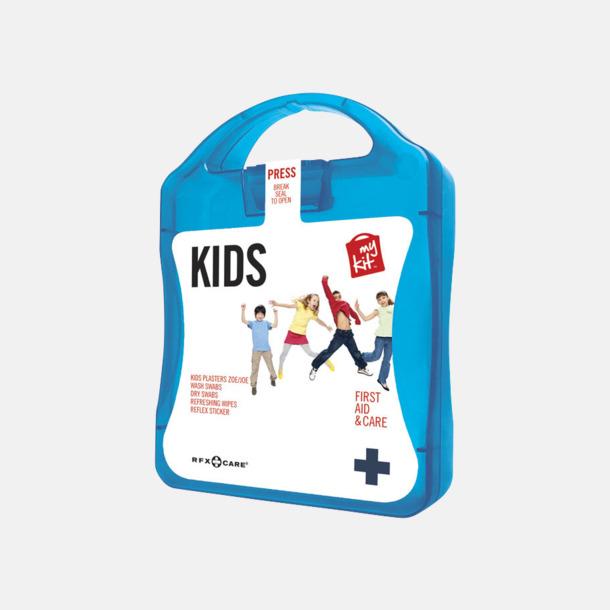 Blå Första hjälpen kit för barn - med reklamtryck