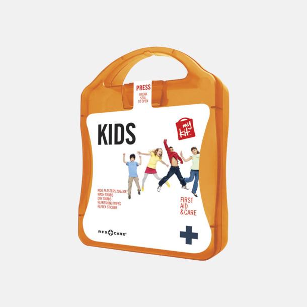 Orange Första hjälpen kit för barn - med reklamtryck