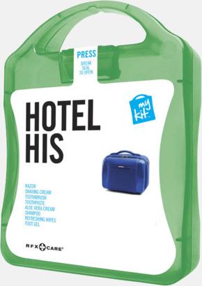 Grön Maskulint hotellkit med reklamtryck